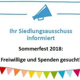 Sommerfest im Ortolanweg: Freiwillige und Spenden gesucht!