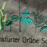 Stickerei: Grüne Soße und 7 Kräuter